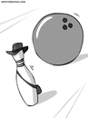 Cartoon: Indiana Jones (small) by Ahmedfani tagged indiana,jones,bowling,pin