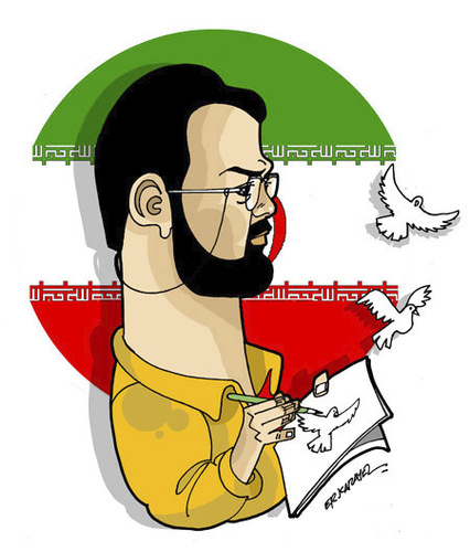 Cartoon: -MASSOUD SHOJAI- PORTRAIT (medium) by donquichotte tagged shj