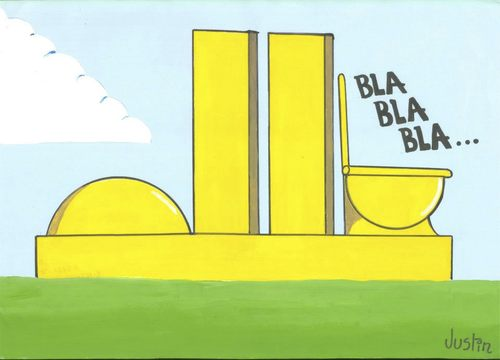 Cartoon: bla bla bla (medium) by claude292 tagged brazil,bla