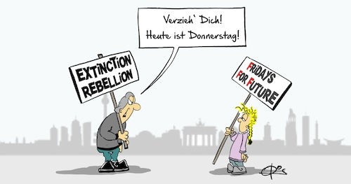 Cartoon: Straßenkampf (medium) by Marcus Gottfried tagged straßenkampf,extinction,rebellion,friday,for,future,kinder,umwelt,klima,retten,widerstand,straßenkampf,extinction,rebellion,friday,for,future,kinder,umwelt,klima,retten,widerstand