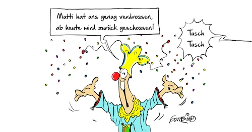 Cartoon: Tusch Tusch (medium) by Marcus Gottfried tagged altweibersommer,karneval,sitzung,regierung,koalition,koalitionsverhandlungen,spd,cdu,csu,merkel,schulz,verdrossen,bütt,büttenrede,fasching,fastnacht,marcus,gottfried,cartoon,karikatur,tusch,altweibersommer,karneval,sitzung,regierung,koalition,koalitionsverhandlungen,spd,cdu,csu,merkel,schulz,verdrossen,bütt,büttenrede,fasching,fastnacht,marcus,gottfried,cartoon,karikatur