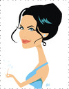 Cartoon: Angelina Jolie (small) by Nicoleta Ionescu tagged angelina,jolie