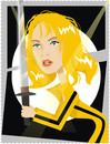 Cartoon: Uma Thurman (small) by Nicoleta Ionescu tagged uma,thurman