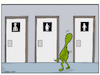 Cartoon: Aliens have needs (small) by matan_kohn tagged alien,space,science,sciencefiction,toilets,doors,funny,caretoon,caricature,meme,illustration,drawing,painting