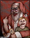 Cartoon: Ho ho ho... merry Christmas (small) by matan_kohn tagged christmas,santaclaus,santa,scary,blood,ghotic,funny,santamemes,happynewyear,kids,red,marrychristmas,joke,toon,illustration,art,fanart,drawing,creepy,crying