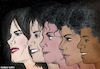 Cartoon: Michael jackson the king of pop (small) by matan_kohn tagged michael,jackson,michaeljackson,kingofpop,music,singer,musicartist,thriller