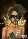Cartoon: Tim burton (small) by matan_kohn tagged tim,burton,vincent,edward,scissorhands,smoke,dark,matan,kohn,funny,fear,disgusting,horror,gothic,blood,frighten,slashers,fantasy,caricature,sickly,monster,skeleton