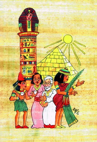 Cartoon: EGIPTO (medium) by SOLER tagged egipto,papiro,viajes