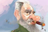 Cartoon: Fidel Castro (small) by kadiryilmaz tagged revolution,comandante,castro,fidel,cuba