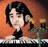 Cartoon: Gothic Piano Guy (small) by frostyhut tagged piano keyboard candles goth gothic blood candelabra music classical
