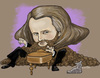 Cartoon: Johannes Brahms (small) by frostyhut tagged brahms,classical,piano,music,beard,cat