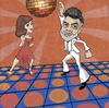 Cartoon: Lucido Night Fever (small) by frostyhut tagged lucido,lucian,disco,man,woman,discoball,dance,fever