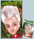 Cartoon: Terence (small) by frostyhut tagged tropical,hair,quiff,rockabilly,tiki,caricature,male