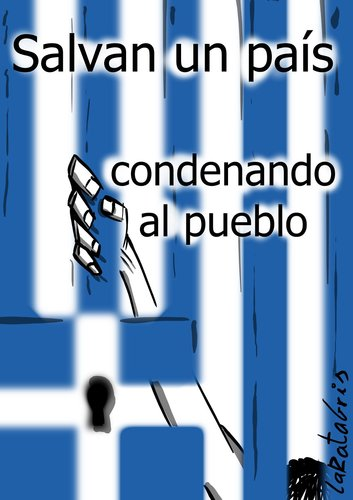 Cartoon: pais y pueblo (medium) by LaRataGris tagged grecia