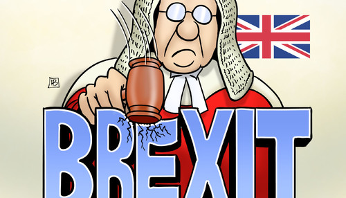 Cartoon: Brexit-Urteil (medium) by Harm Bengen tagged brexit,urteil,parlament,may,eu,europa,high,court,richter,harm,bengen,cartoon,karikatur,brexit,urteil,parlament,may,eu,europa,high,court,richter,harm,bengen,cartoon,karikatur