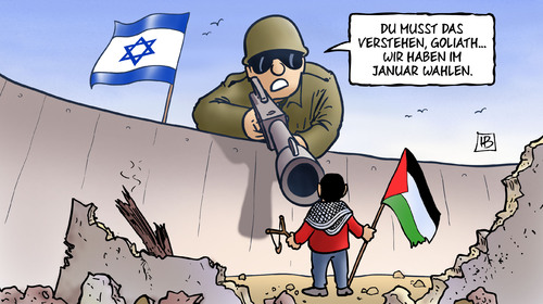 Cartoon: David und Goliath (medium) by Harm Bengen tagged david,goliath,israel,palaestina,gaza,hamas,angriff,krieg,nahostkonflikt,raketen,harm,bengen,cartoon,karikatur,david,goliath,israel,palaestina,gaza,hamas,angriff,krieg,nahostkonflikt,raketen,harm,bengen,cartoon,karikatur