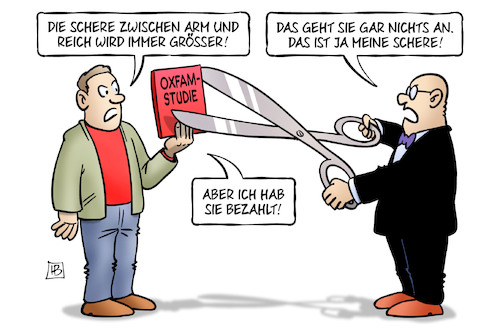 Cartoon: Oxfam-Schere (medium) by Harm Bengen tagged oxfam,studie,schere,armmut,reichtum,kluft,abstand,harm,bengen,cartoon,karikatur,oxfam,studie,schere,armmut,reichtum,kluft,abstand,harm,bengen,cartoon,karikatur