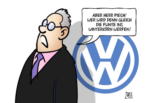 Cartoon: Piech3 (medium) by Harm Bengen tagged piech,winterkorn,handtuch,geworfen,aufsichtsrat,vorsitz,wolfsburg,vw,machtkampf,automobilindustrie,harm,bengen,cartoon,karikatur,piech,winterkorn,handtuch,geworfen,aufsichtsrat,vorsitz,wolfsburg,vw,machtkampf,automobilindustrie,harm,bengen,cartoon,karikatur