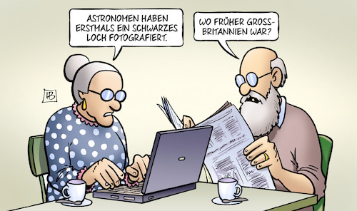 Cartoon: Schwarzes Loch (medium) by Harm Bengen tagged astronomen,schwarzes,loch,fotografiert,grossbritannien,brexit,uk,gb,susemil,computer,laptop,harm,bengen,cartoon,karikatur,astronomen,schwarzes,loch,fotografiert,grossbritannien,brexit,uk,gb,susemil,computer,laptop,harm,bengen,cartoon,karikatur