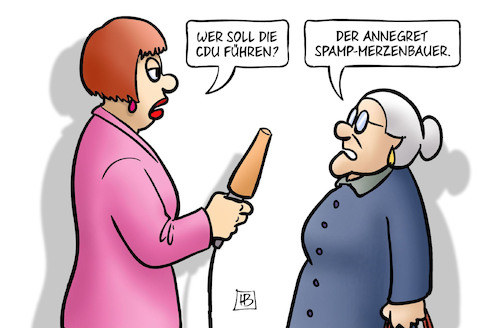 Cartoon: Wer solls machen (medium) by Harm Bengen tagged susemil,interview,spamp,merzenbauer,merz,cdu,vorsitz,parteitag,wahl,kramp,karrenbauer,spahn,harm,bengen,cartoon,karikatur,susemil,interview,spamp,merzenbauer,merz,cdu,vorsitz,parteitag,wahl,kramp,karrenbauer,spahn,harm,bengen,cartoon,karikatur