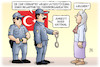 Cartoon: Amnesty-Verhaftungen (small) by Harm Bengen tagged türkei,polizei,verhaftungen,unterstützung,terrororganisation,amnesty,international,idil,eser,harm,bengen,cartoon,karikatur