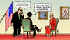 Cartoon: Dalai Lama bei Obama (small) by Harm Bengen tagged dalai lama obama usa china etat haushalt streit demokraten republikaner diplomatie tibet beten gesund