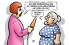 Cartoon: Merkel-Zustimmung (small) by Harm Bengen tagged merkel,zustimmung,65,prozent,umfrage,ard,deutschlandtrend,unzufrieden,kurs,interview,susemil,harm,bengen,cartoon,karikatur