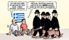 Cartoon: Quadriga (small) by Harm Bengen tagged esm,quadriga,geldgeber,erpressung,drohung,privatisierung,bettler,europa,grexit,troika,institutionen,eu,ezb,iwf,griechenland,pleite,schulden,harm,bengen,cartoon,karikatur