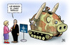 Cartoon: Smart Defense (small) by Harm Bengen tagged smart,defense,nato,gipfel,krise,schuldenkrise,eurokrise,europa,usa,wirtschaft,afghanistan,krieg,aufstand,rückzug,abzug,sparen,sparschwein,raketen,raketenabwehr,schild,interview