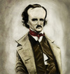 Cartoon: Edgar Allan Poe (small) by markdraws tagged edgar,allan,poe,caricature,humor,illustration,photoshop,painting,digital,art,horror,author,mystery,raven