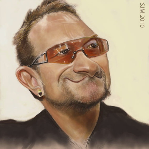 Cartoon: Bono-Oh!No! (medium) by jonesmac2006 tagged caricature