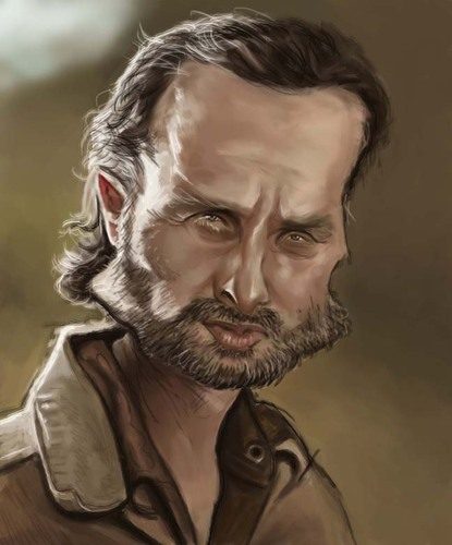 Cartoon: Rick Grimes (medium) by jonesmac2006 tagged rick,grimes,the,walking,dead,caricature