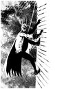 Cartoon: Batman climbing (small) by csamcram tagged batman csam cram superheroe heavy rain
