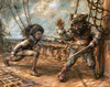 Cartoon: harrr (small) by nootoon tagged pirate,fight,nootoon,sailor,sea,ship,illustration,germany