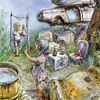 Cartoon: junk yard 2 (small) by nootoon tagged junk,yard,nootoon,illustrator,germany,contemporary,art