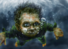 Cartoon: underwater words are bubbles (small) by nootoon tagged bubbles underwater nootoon illustration germany digital