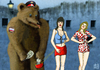 Cartoon: Uniform corruption (small) by Dadaphil tagged corruption,dadaphil,uniform,whores,money,bear,russia,korruption,prostituierte,nutte,bär,russland
