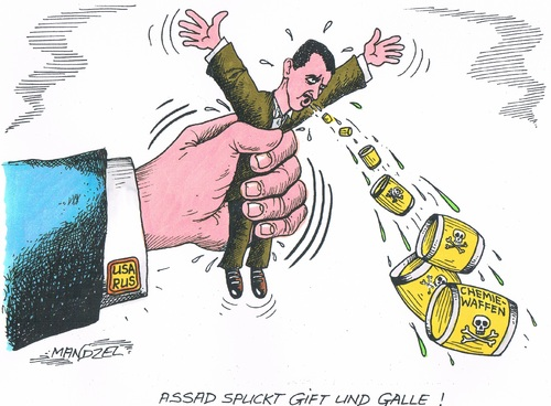 Cartoon: Assad unterDruck (medium) by mandzel tagged assad,giftgas,chemiewaffen,druck,syrien,usa,russland,assad,giftgas,chemiewaffen,druck,syrien,usa,russland