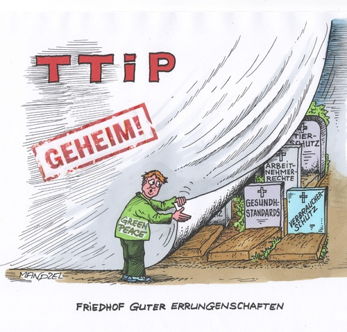 Cartoon: Geheim-TTIP (medium) by mandzel tagged ttip,europa,usa,standards,ttip,europa,usa,standards