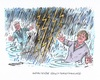 Cartoon: Gewitterstimmung (small) by mandzel tagged union,seehofer,merkel,cdu,csu,krach,gewitter