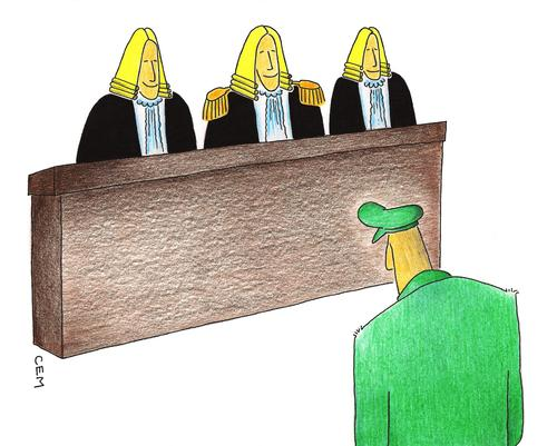 Cartoon: court (medium) by cemkoc tagged ko,cem,trial,military,officer,general,cartoons,law,karikatürleri,hukuk