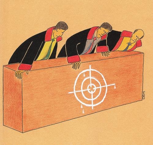 Cartoon: court (medium) by cemkoc tagged juridiction,la,cour,droit,legal,richter,attorney,lawyer,prosecutor,public,prosecution,tribunal,trial,defendant,last,court,supreme,justice,judicial,judge,judgement,cartoons,law,karikatürleri,hukuk,le,juge,abogado