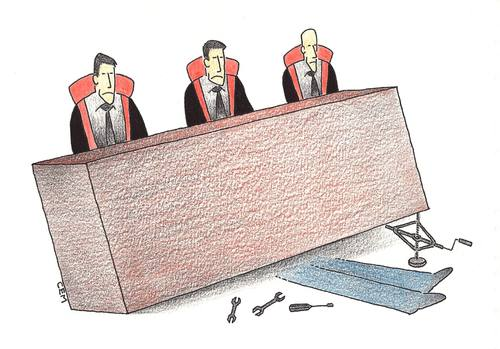 Cartoon: court (medium) by cemkoc tagged ko,cem,karikatürleri,hukuk,cartoons,law