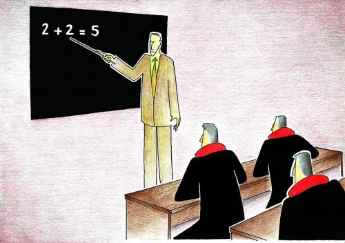 Cartoon: education (medium) by cemkoc tagged education,cartoons,law,karikatürleri,hukuk