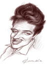 Cartoon: Young Elvis (small) by StudioCandia tagged elvis,sketch