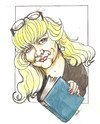 Cartoon: Lady N0 3 (small) by ade tagged bookstore