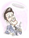 Cartoon: THE SAINT (small) by ade tagged roger,moore,saint
