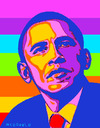 Cartoon: obama apoyo gay (small) by allan mcdonald tagged gay
