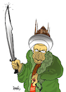 Cartoon: The Conqueror of Hagia Sophia (small) by ismail dogan tagged saint,sophie