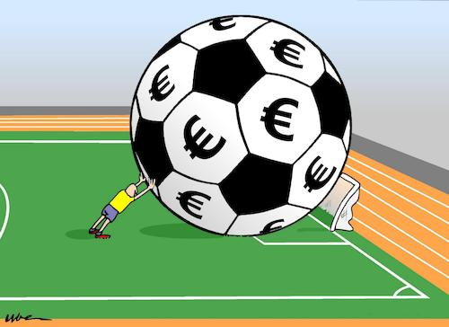 Cartoon: TOO BIG (medium) by uber tagged football,worldcup,russia,football,worldcup,russia